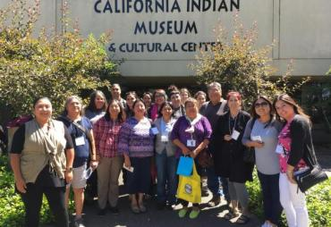 Group of people in front of California Indian Museum